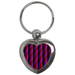 Photography Illustrations Line Wave Chevron Red Blue Vertical Light Key Chains (heart)  by Mariart
