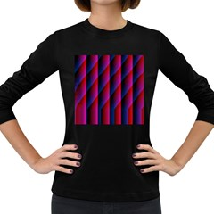 Photography Illustrations Line Wave Chevron Red Blue Vertical Light Women s Long Sleeve Dark T-shirts by Mariart