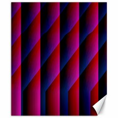 Photography Illustrations Line Wave Chevron Red Blue Vertical Light Canvas 8  X 10  by Mariart