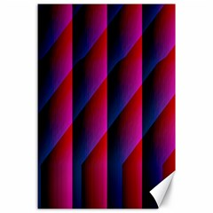 Photography Illustrations Line Wave Chevron Red Blue Vertical Light Canvas 24  X 36  by Mariart