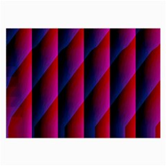 Photography Illustrations Line Wave Chevron Red Blue Vertical Light Large Glasses Cloth (2 Side) by Mariart