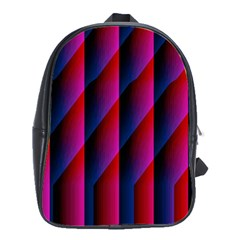 Photography Illustrations Line Wave Chevron Red Blue Vertical Light School Bags(large)