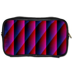 Photography Illustrations Line Wave Chevron Red Blue Vertical Light Toiletries Bags 2 Side by Mariart