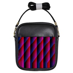 Photography Illustrations Line Wave Chevron Red Blue Vertical Light Girls Sling Bags by Mariart