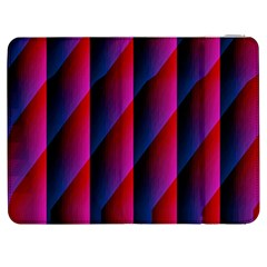 Photography Illustrations Line Wave Chevron Red Blue Vertical Light Samsung Galaxy Tab 7  P1000 Flip Case