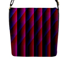 Photography Illustrations Line Wave Chevron Red Blue Vertical Light Flap Messenger Bag (l)  by Mariart
