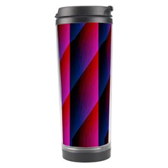 Photography Illustrations Line Wave Chevron Red Blue Vertical Light Travel Tumbler by Mariart