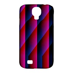 Photography Illustrations Line Wave Chevron Red Blue Vertical Light Samsung Galaxy S4 Classic Hardshell Case (pc+silicone) by Mariart