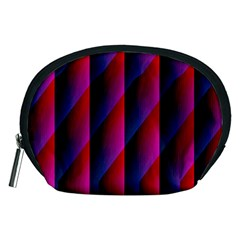 Photography Illustrations Line Wave Chevron Red Blue Vertical Light Accessory Pouches (medium)  by Mariart