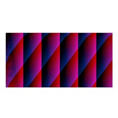 Photography Illustrations Line Wave Chevron Red Blue Vertical Light Satin Shawl by Mariart