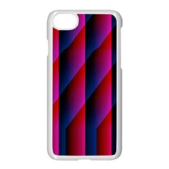 Photography Illustrations Line Wave Chevron Red Blue Vertical Light Apple Iphone 7 Seamless Case (white)
