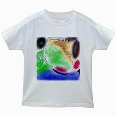 Mirror Light Kids White T Shirts by Mariart