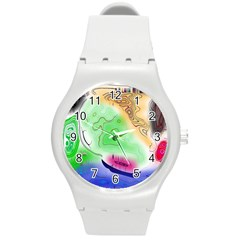 Mirror Light Round Plastic Sport Watch (m) by Mariart