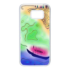 Mirror Light Samsung Galaxy S7 White Seamless Case by Mariart