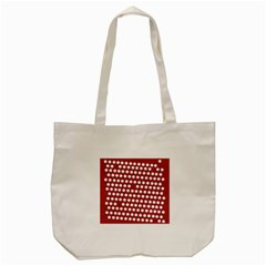 Pink White Polka Dots Tote Bag (cream) by Mariart