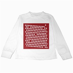Pink White Polka Dots Kids Long Sleeve T Shirts by Mariart