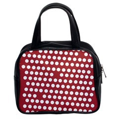 Pink White Polka Dots Classic Handbags (2 Sides) by Mariart