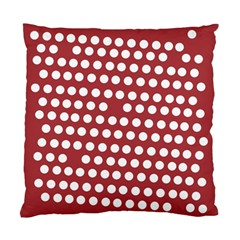 Pink White Polka Dots Standard Cushion Case (two Sides) by Mariart