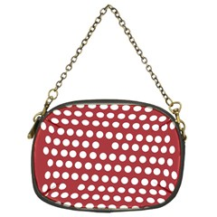 Pink White Polka Dots Chain Purses (two Sides)  by Mariart