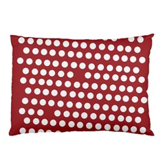Pink White Polka Dots Pillow Case by Mariart