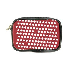 Pink White Polka Dots Coin Purse by Mariart