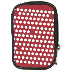 Pink White Polka Dots Compact Camera Cases by Mariart