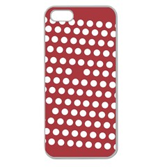Pink White Polka Dots Apple Seamless Iphone 5 Case (clear) by Mariart