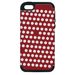Pink White Polka Dots Apple Iphone 5 Hardshell Case (pc+silicone) by Mariart