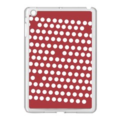 Pink White Polka Dots Apple Ipad Mini Case (white) by Mariart