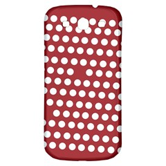 Pink White Polka Dots Samsung Galaxy S3 S Iii Classic Hardshell Back Case by Mariart
