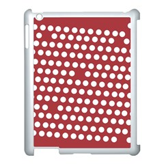 Pink White Polka Dots Apple Ipad 3/4 Case (white) by Mariart