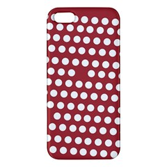 Pink White Polka Dots Apple Iphone 5 Premium Hardshell Case by Mariart