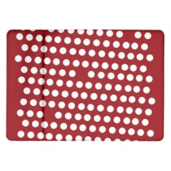 Pink White Polka Dots Samsung Galaxy Tab 10 1  P7500 Flip Case by Mariart