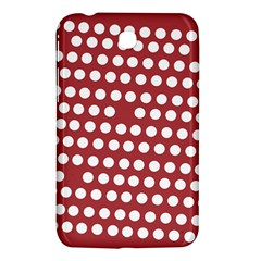 Pink White Polka Dots Samsung Galaxy Tab 3 (7 ) P3200 Hardshell Case  by Mariart