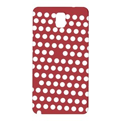 Pink White Polka Dots Samsung Galaxy Note 3 N9005 Hardshell Back Case by Mariart