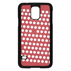 Pink White Polka Dots Samsung Galaxy S5 Case (black) by Mariart