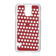 Pink White Polka Dots Samsung Galaxy S5 Case (white) by Mariart