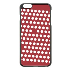 Pink White Polka Dots Apple Iphone 6 Plus/6s Plus Black Enamel Case by Mariart