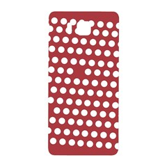 Pink White Polka Dots Samsung Galaxy Alpha Hardshell Back Case by Mariart