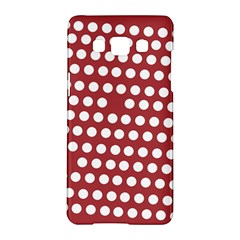 Pink White Polka Dots Samsung Galaxy A5 Hardshell Case  by Mariart