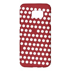 Pink White Polka Dots Samsung Galaxy S7 Edge Hardshell Case by Mariart