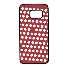 Pink White Polka Dots Samsung Galaxy S7 Black Seamless Case by Mariart
