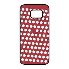 Pink White Polka Dots Samsung Galaxy S7 Edge Black Seamless Case by Mariart