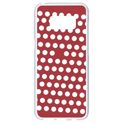Pink White Polka Dots Samsung Galaxy S8 White Seamless Case by Mariart