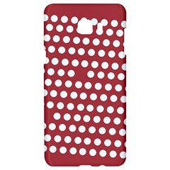 Pink White Polka Dots Samsung C9 Pro Hardshell Case  by Mariart