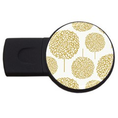 Loboloup Hydrangea Quote Floral And Botanical Flower Usb Flash Drive Round (2 Gb) by Mariart