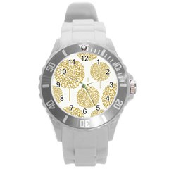 Loboloup Hydrangea Quote Floral And Botanical Flower Round Plastic Sport Watch (l)