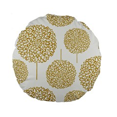 Loboloup Hydrangea Quote Floral And Botanical Flower Standard 15  Premium Flano Round Cushions by Mariart
