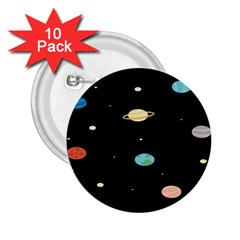 Planets Space 2 25  Buttons (10 Pack)