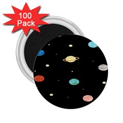 Planets Space 2 25  Magnets (100 Pack)  by Mariart